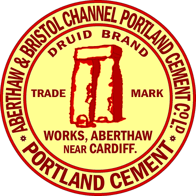 Early Aberthaw Druid Brand cement logo