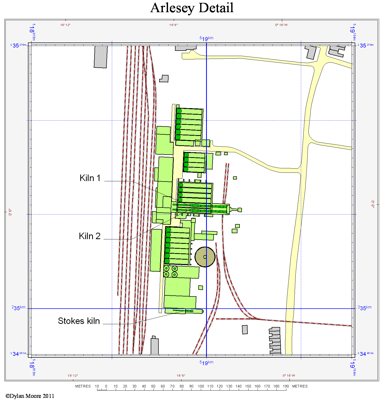 Arlesey cement layout map