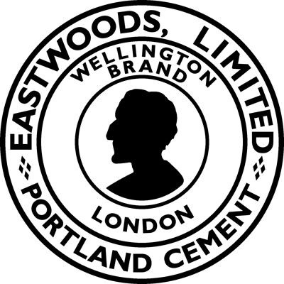 Early Eastwoods Barrington Wellington Brand cement logo