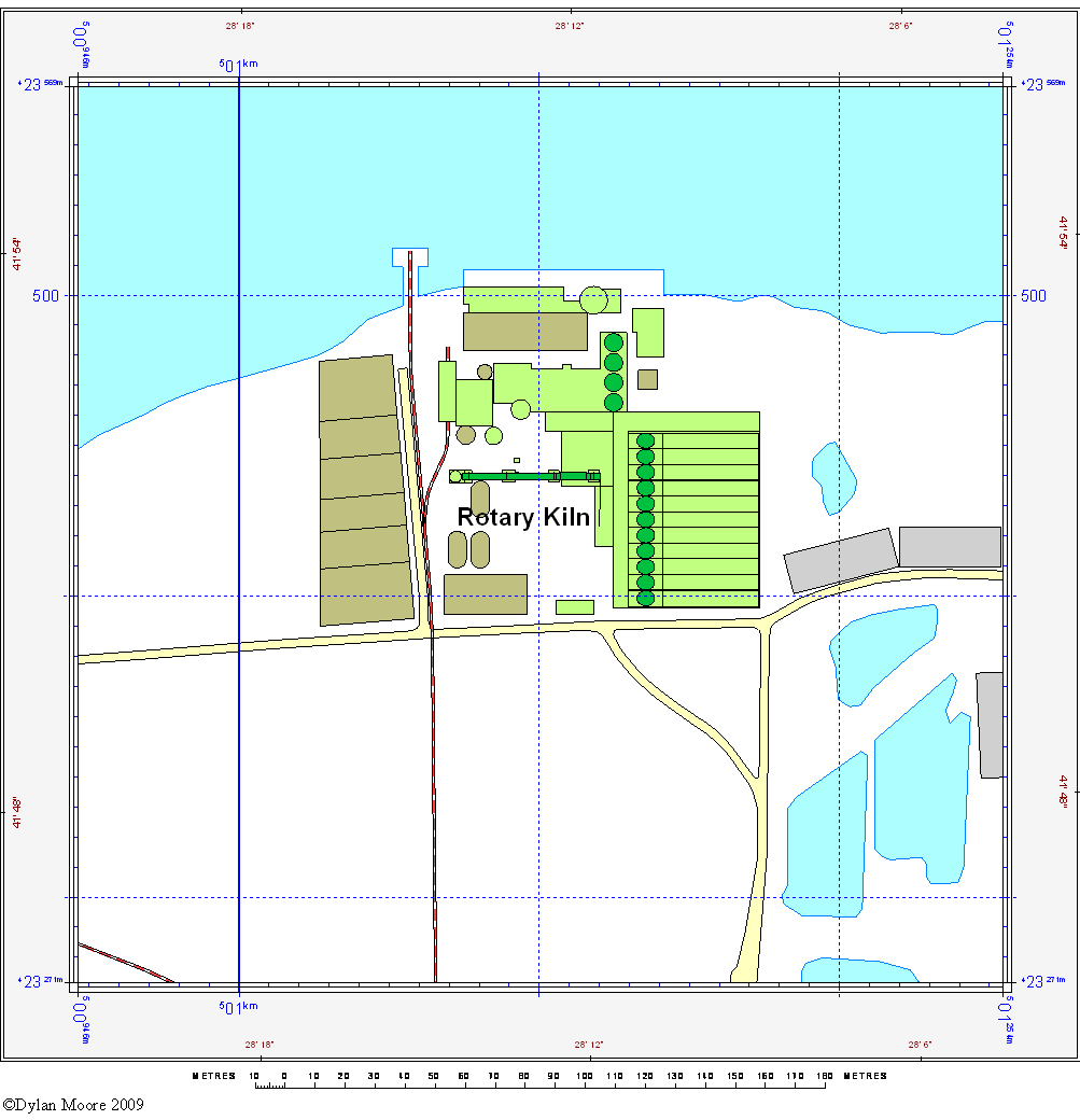 Skelseys Barton cement layout map
