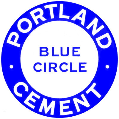 Early 1930s Blue Circle cement logo