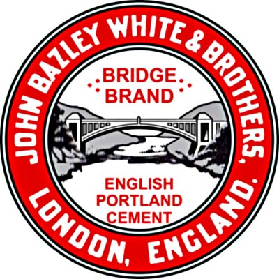 J. B. White Frindsbury Bridge Brand cement logo
