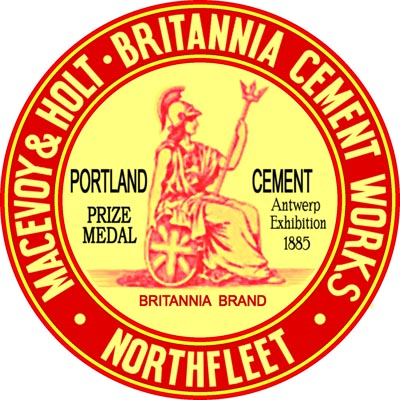 McEvoy and Holt Swanscombe Britannia Brand cement logo