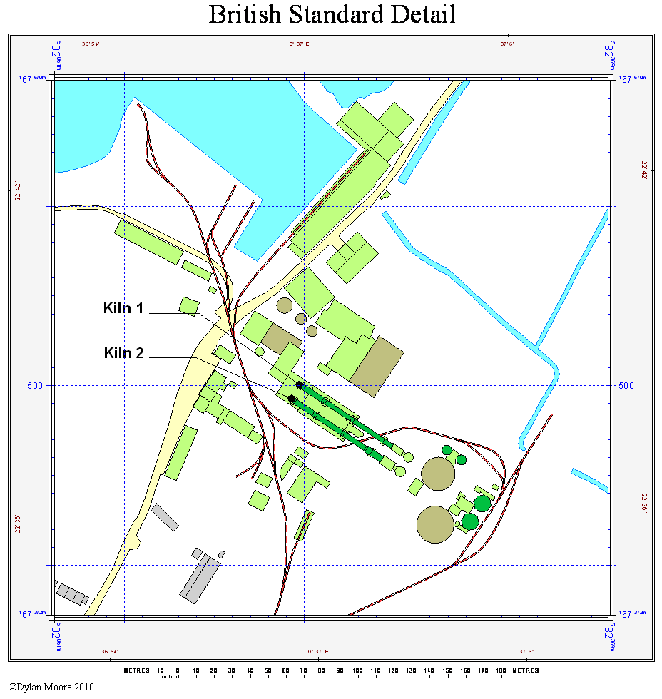 Goldsmith's Rainham British Standard layout map