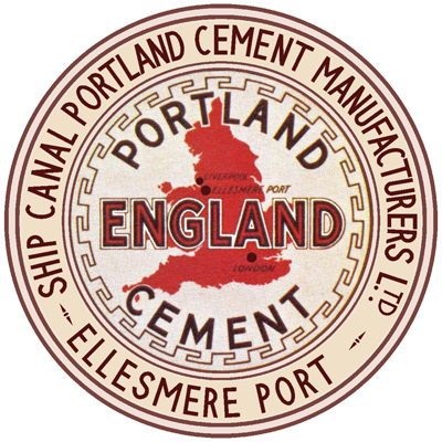 Ellesmere Port Ship Canal England Brand cement logo