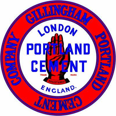 Gillingham Red Hand Brand cement logo