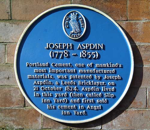 Joseph Aspdin Blue Plaque
