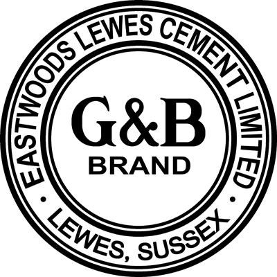 Eastwoods Lewes Glover & Batchelor G&B Brand cement logo