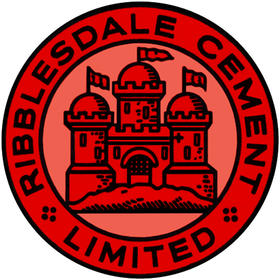 Ribblesdale Clitheroe Castle Brand cement logo