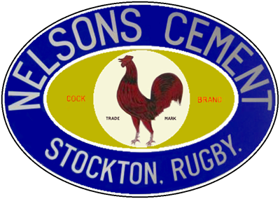 Charles Nelson Stockton Cock Brand cement logo