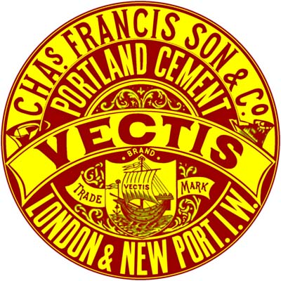 Francis Isle of Wight Vectis Brand cement logo
